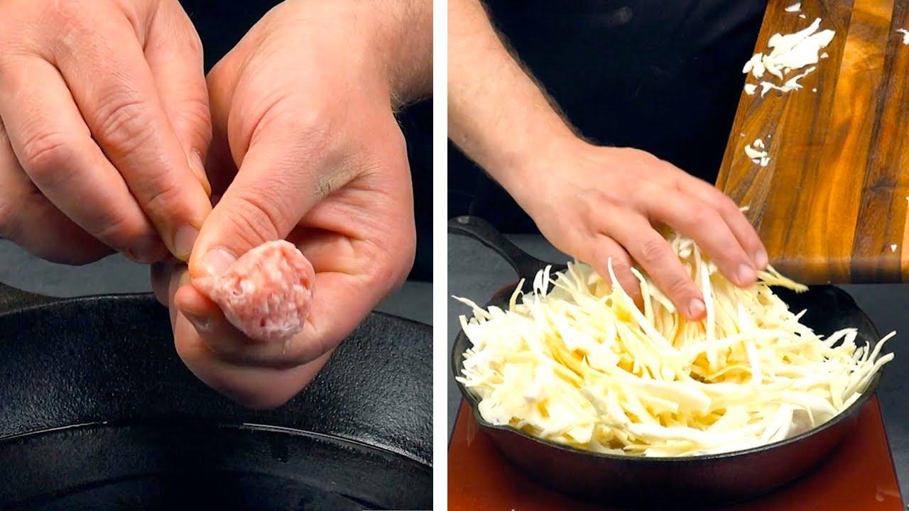 Los italianos lo hacen bien, pero nosotros lo hacemos mejor: frittata con col blanca y salchicha