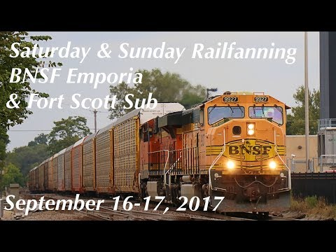 Saturday & Sunday Railfanning on the BNSF Emporia and Fort Scott Sub on September 16-17, 2017