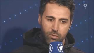 ARD Sportschau: Ismail Atalan (Sportfreunde Lotte) Studio post-match interview vs Borussia Dortmund
