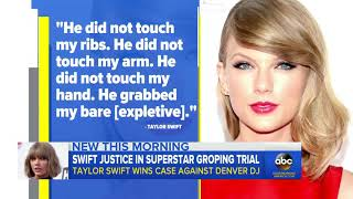 Ex-DJ found to have groped Taylor Swift says,