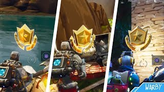Fortnite Battle Royale - All Season 6 Secret Battle Stars Locations (Free Battle Pass Tiers)