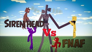 Siren head VS fnaf в стиле Minecraft (Stick nodes)