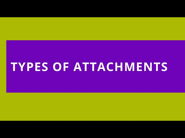 Audio Reads: Types of Attachments