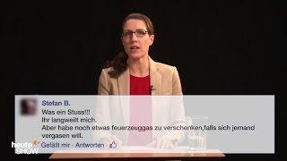 Birte Schneider liest ausgewählte Hasskommentare (1)