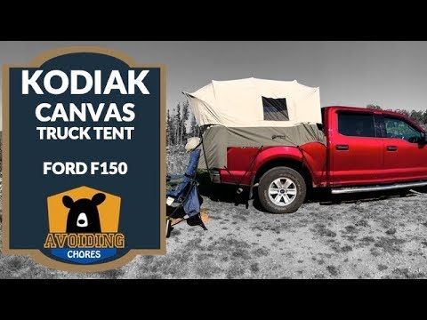 Kodiak Canvas Truck Tent F150 Short Bed Setup And