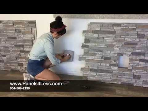 How To Install Fake Stone Wall Panels DIY