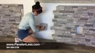 Panels4Less  WallPanel Installation