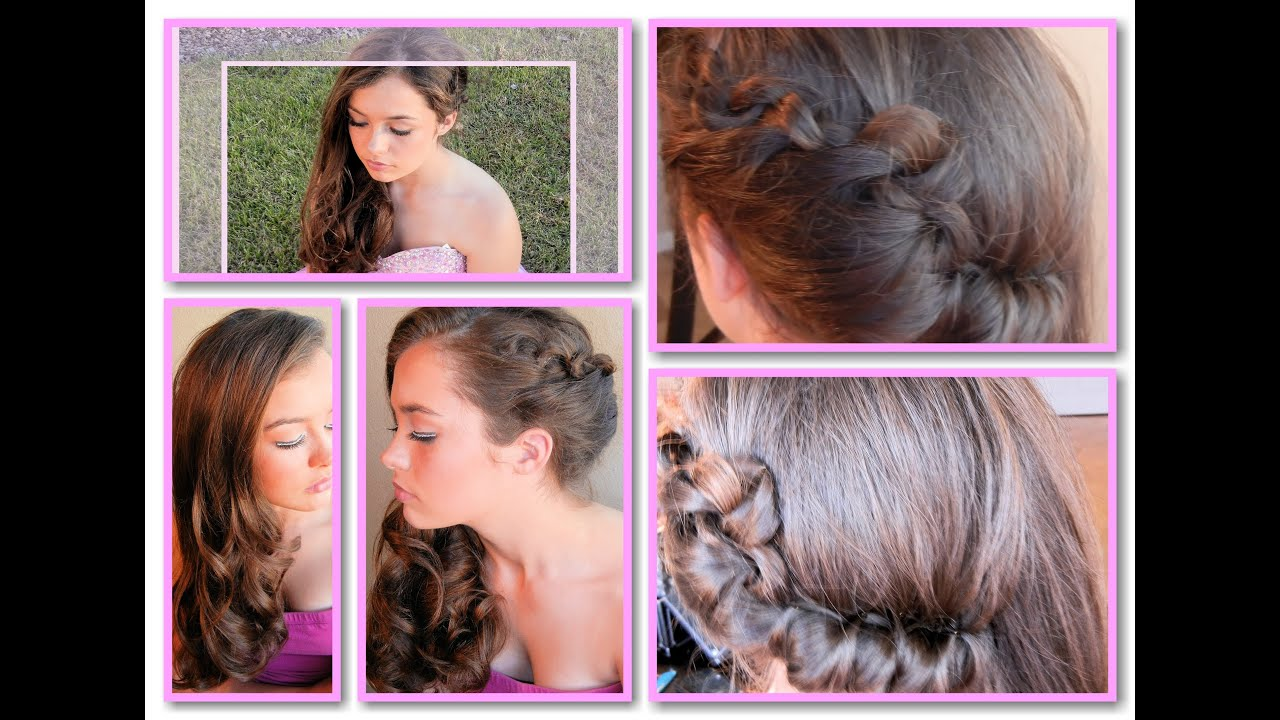 easy side-swept hairdo for graduation, wedding, or other formal