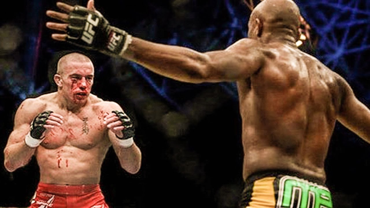 Anderson Silva Vs Georges St Pierre Gsp Youtube