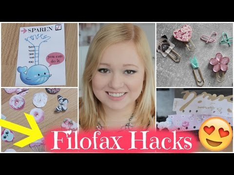 10 FILOFAX PLANNER DIY´S & HACKS - STICKER, PAPER CLIPS, TODAY MARKER, AUFBEWAHRUNG
