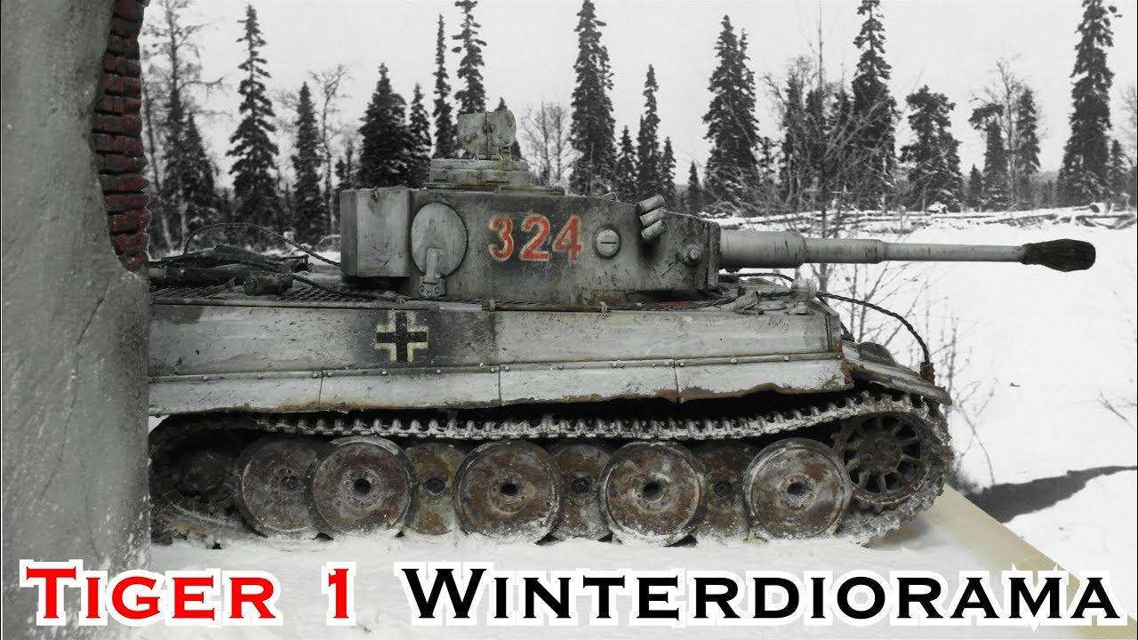 Tiger 1 Winter Diorama Teil 5 Schneeeffekt Von Krycell Modellbau Panzer