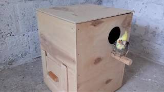 Гнездо для попугаев средних пород! Скворечник для птиц .Домик для корел!