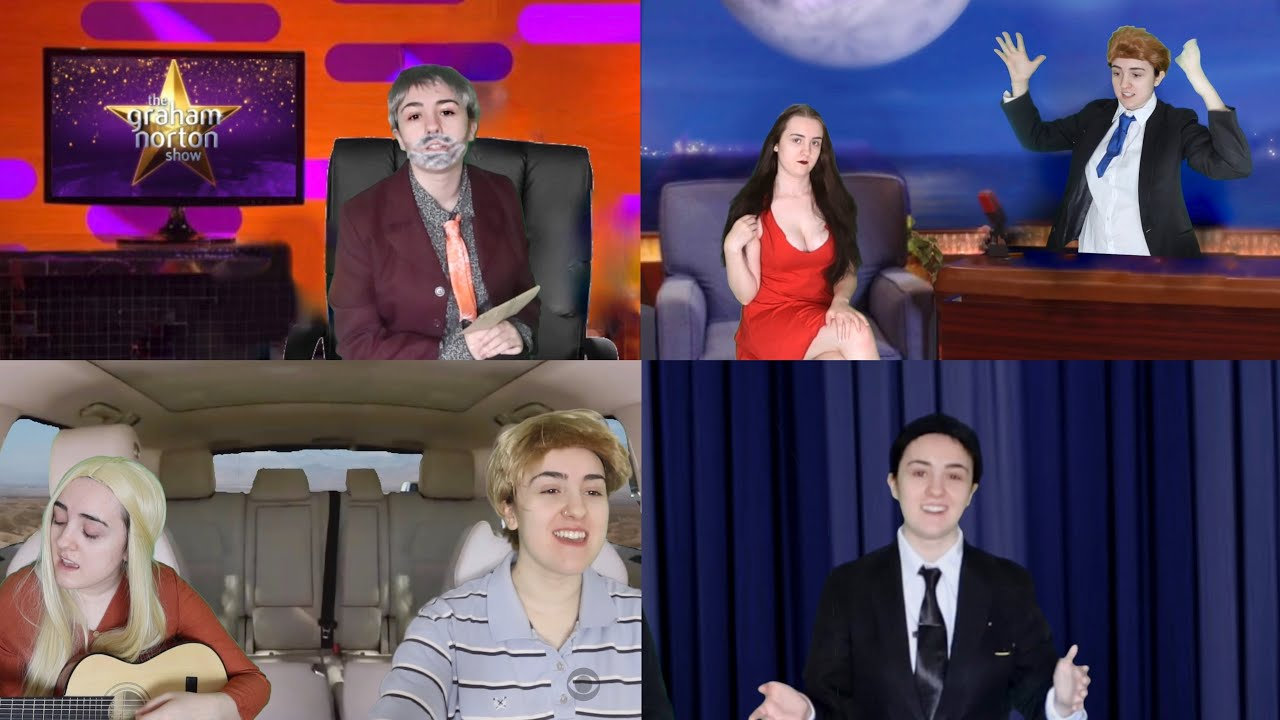 late night tv except i play all the hosts and guests (parody)