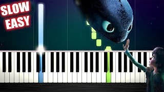 Test Drive (How To Train Your Dragon) - SLOW EASY Piano Tutorial by PlutaX