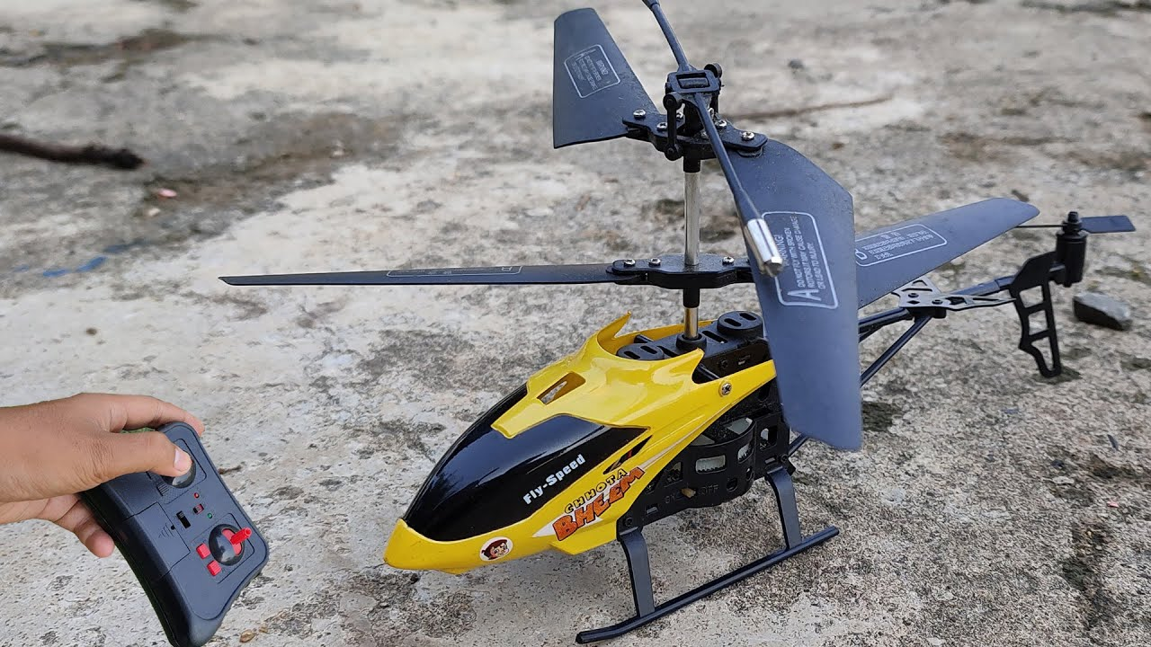 Chhota bheem new 2.5 channel Latest rc helicopter unboxing and fly test