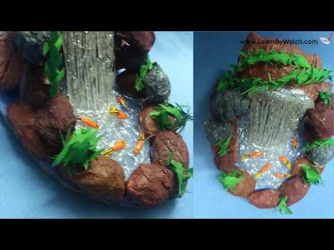 Beautiful Waterfall Showpiece (DIY) | Best out waste material | Learn By Watch Crafts