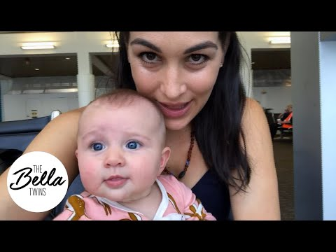 Birdie's airplane meltdown! Brie's first time flying with Birdie alone starts off fine!