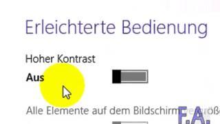 Windows 8 - Hohen Kontrast einstellen thumbnail