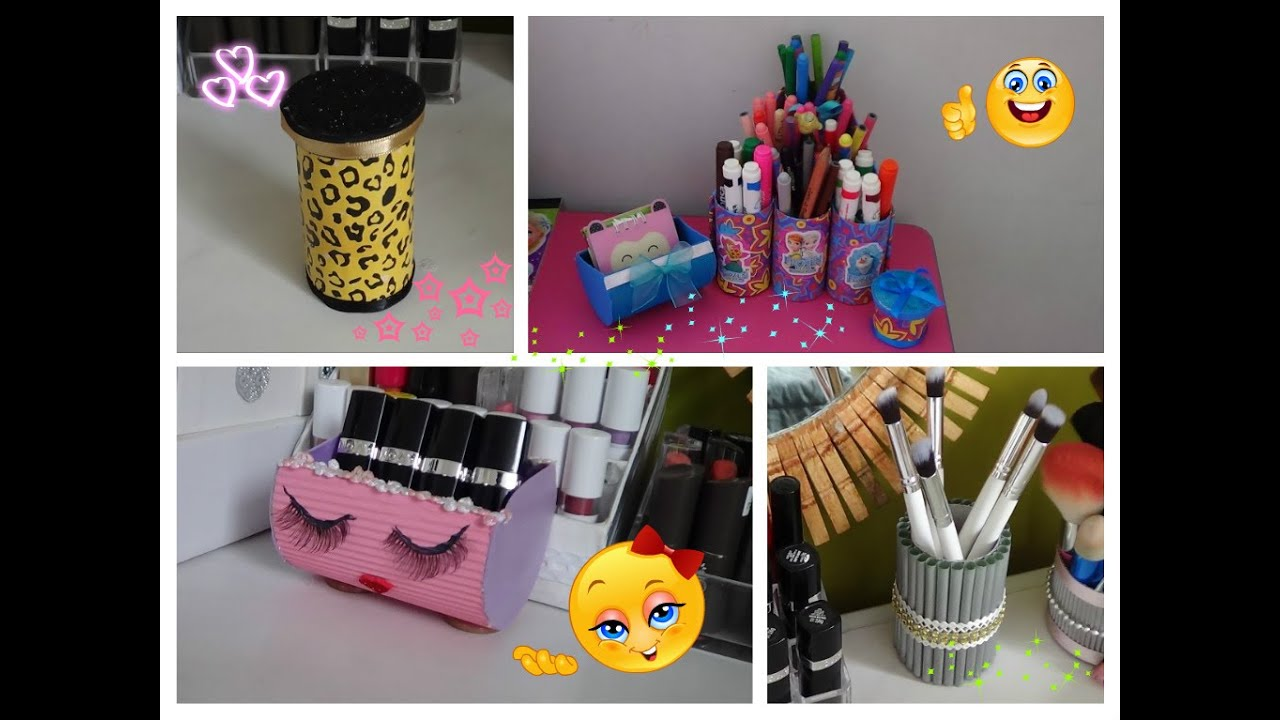 Manualidades con rollos de papel higienico youtube - Manualidades decorativas para el hogar ...