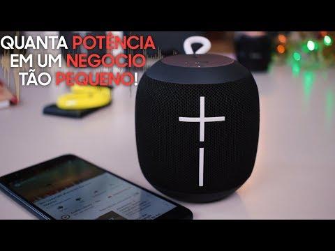 Logitech UE Wonderboom - uma caixinha de som Bluetooth super potente! ESSA É TOP