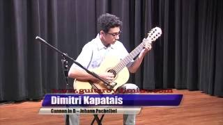 Canon in D On Classical Guitar