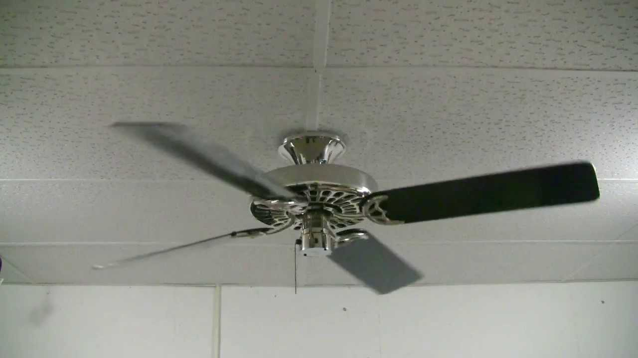 Polished Nickel Hunter Original Ceiling Fan - YouTube