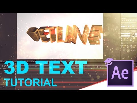 How to create 3D text in After Effects (3 ways)