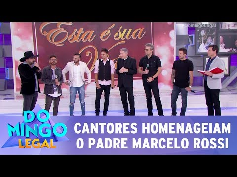 Cantores homenageiam o padre Marcelo Rossi | Domingo Legal (05/11/17)