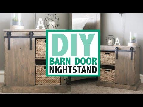 DIY Barn Door Nightstand | Shanty2Chic