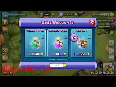 Clash of clans daily discount free training potion