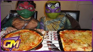 Teenage Mutant Ninja Turtles show you how to make pizza