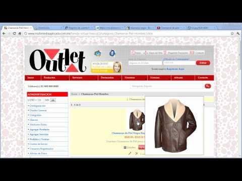Videotutorial de Configuración de Tienda Virtual Básica de Multimedia Aplicada