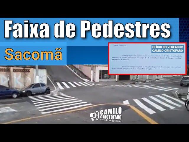 Faixa de Pedestres no Sacomã