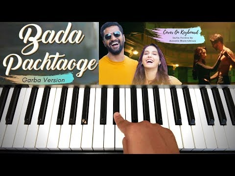 bada-pachtaoge-|-garba-version-|-cover-on-keyboard