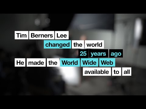 Tim Berners Lee changed the world 25 years ago | Tim Berners Lee