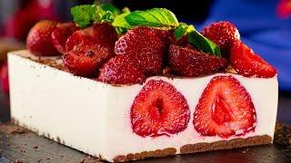 Клубничный торт без выпечки - легкий, воздушный, полезный десерт для ваших деток! | Appetitno.TV