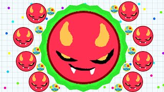 Agario Mobile Solo Biggest Cell In Shortest Time Premium Evil Skin (Agar.io Funny Moments)