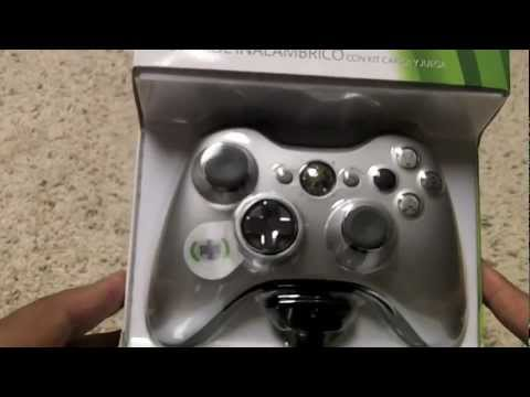 Silent Unboxing: Xbox 360 Limited Edition Silver Wireless Controller