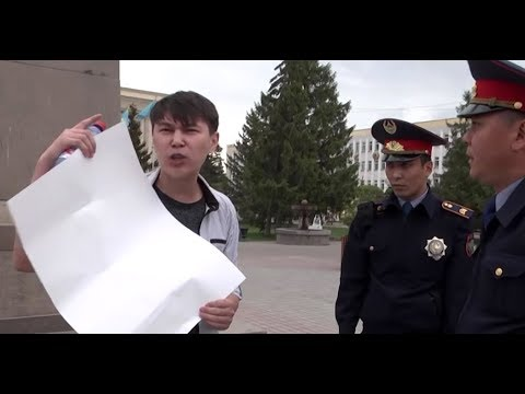 Kazakhstan YouTuber Holding Blank Sign Detained, Amid More Protester Arrests