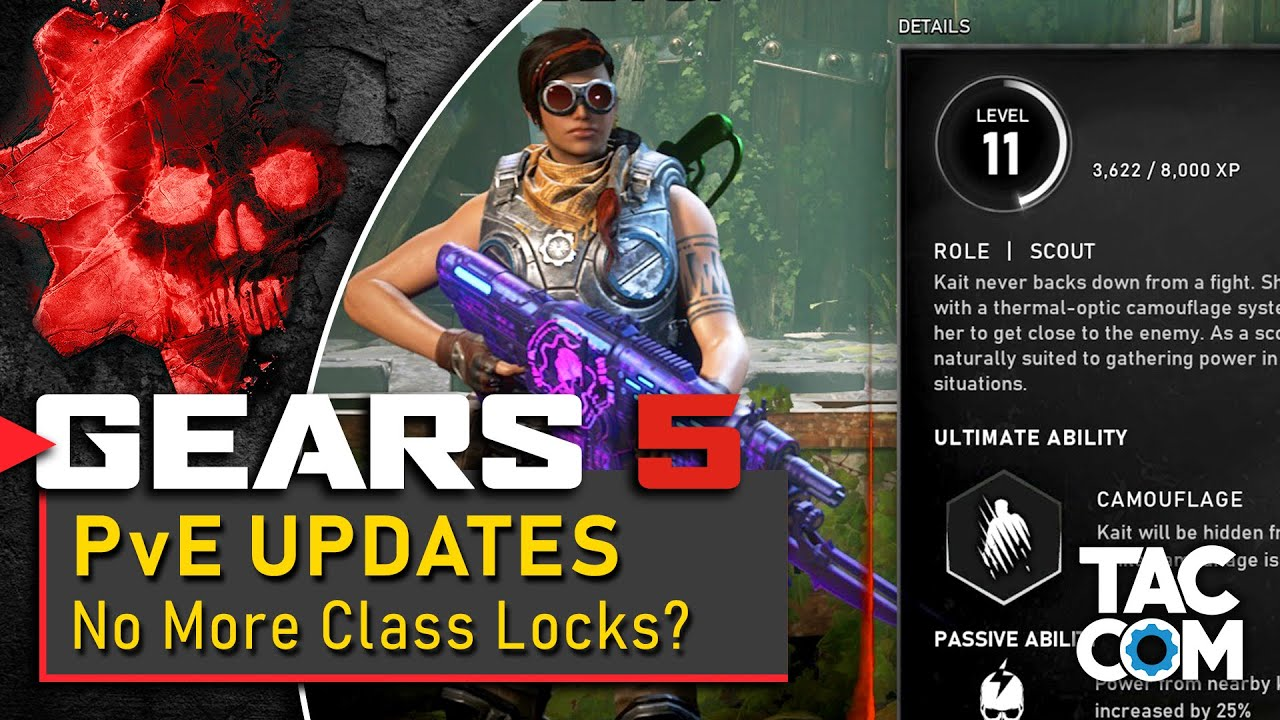 Gears 5 - PvE Updates - No More Class-Locked Characters! thumbnail