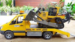 포크레인 불도저 중장비 자동차 장난감 트럭놀이 Excavator VS Bulldozer Truck Toy Activity