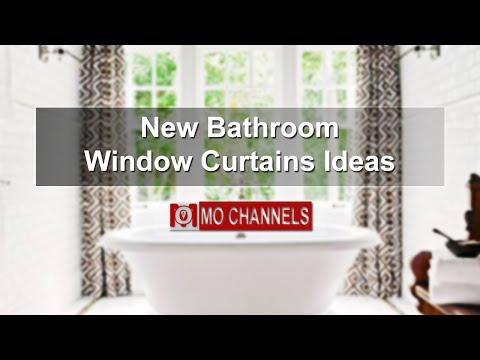 New Bathroom Window Curtains Ideas
