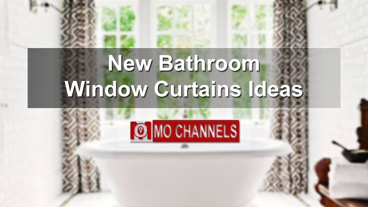 Well-known New Bathroom Window Curtains Ideas - YouTube FR55