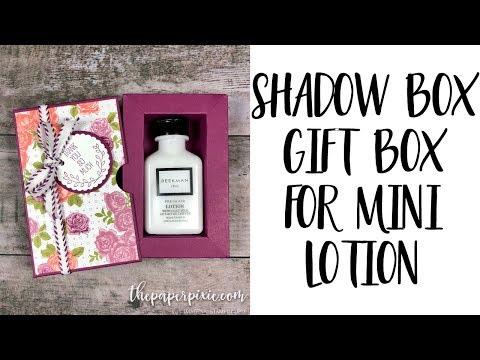 Shadow Box Gift Box for Mini Lotion