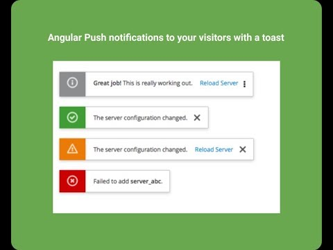 Angular Push notifications to your visitors with a toast