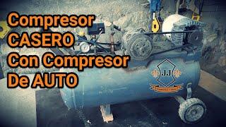 Compresor CASERO Con Compresor De AUTO - Como Hacer - Tutori...