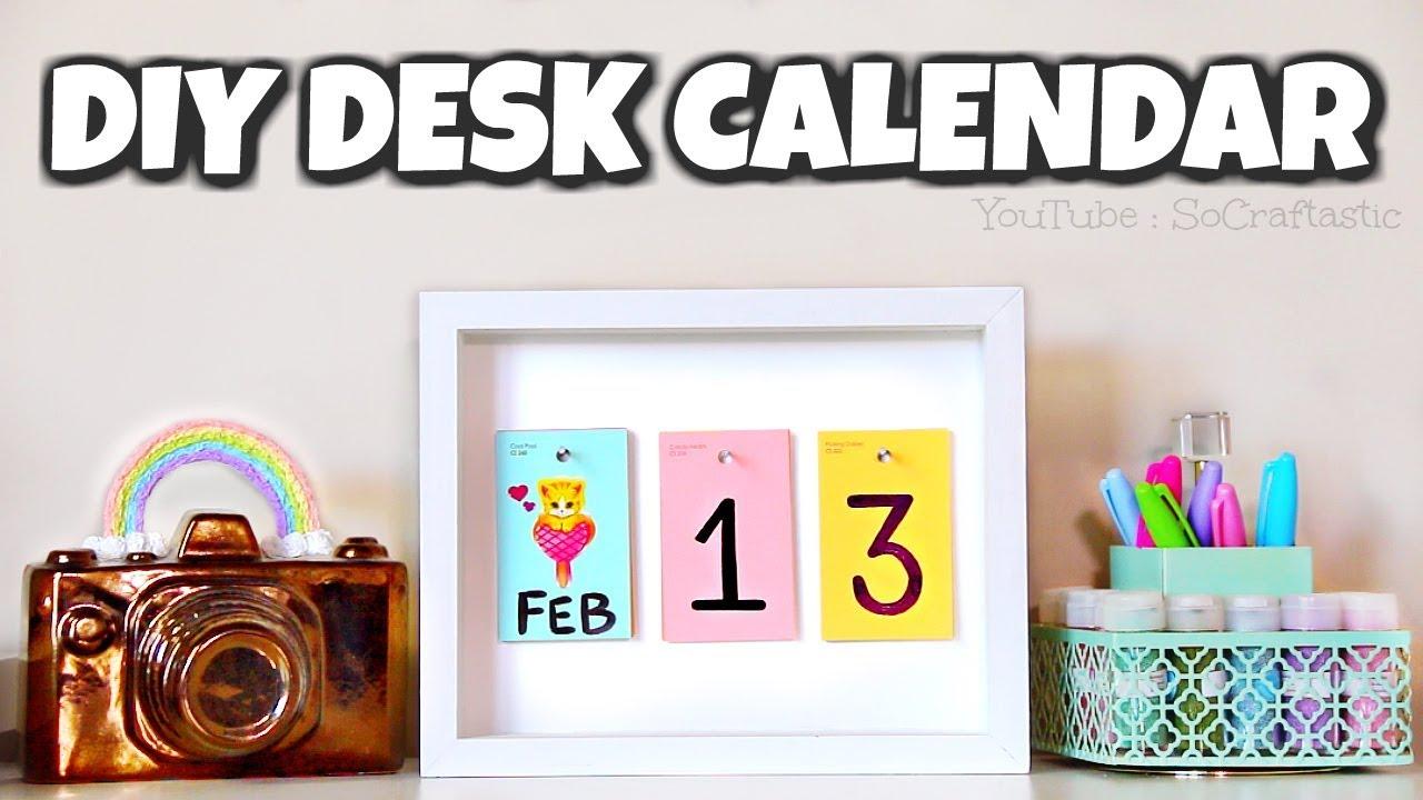 Diy Desk Calendar With Paint Samples