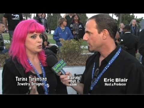 Fashion and make up designer Tarina Tarantino  talks with Eric Blair