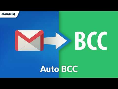 Auto BCC for Gmail : Feature-Rich!