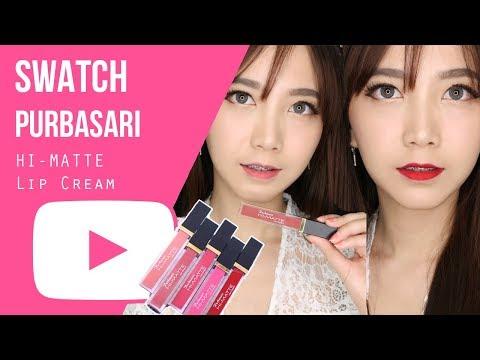 review-:-swatch-purbasari-hi---matte-lip-cream-|-piccha